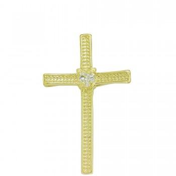 Crucifixo Masculino Zircônia