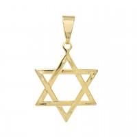 Pingente Folheado a Ouro Estrela de Davi